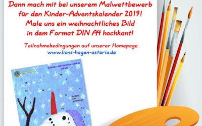 Malwettbewerb für den Kinder-Adventskalender 2019